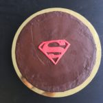 superman chocolate cake with chocolate ganache
